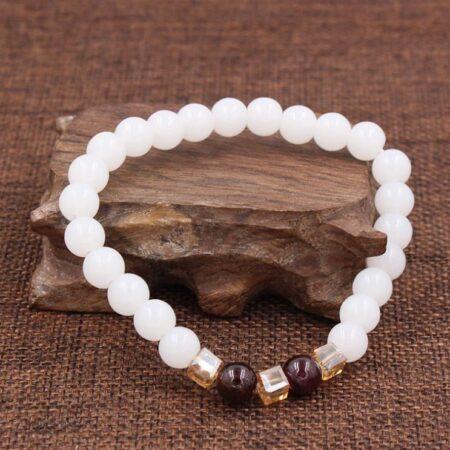 bracelet calcédoine, shine boutique