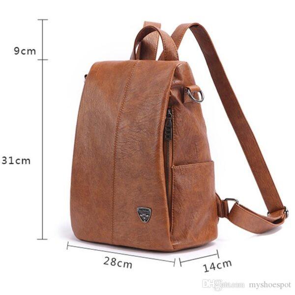 Shine boutique, sac à dos à fermeture cachée Evita, sac à dos antivol, sac à doc en cuir, sac à dos de voyage