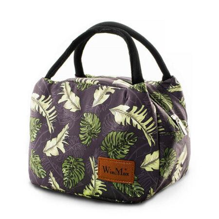 sac repas isotherme, lunch bag tropical, sac à lunch, sac à déjeuner bohème, sac glaciaire souple, sac faîcheur