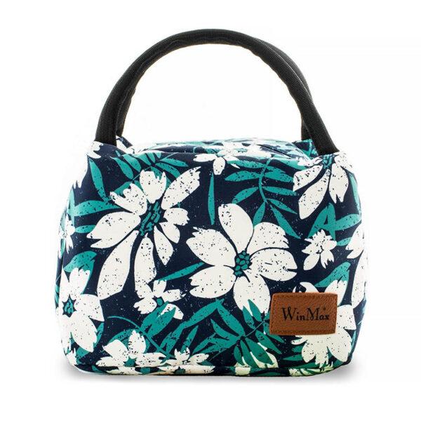 sac repas isotherme pour lunch bag à motif fleurs