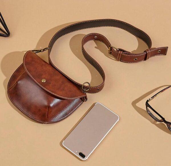 shine boutique, sac ceinture victoria, belt bag, sac banane, sac bandoulière cuir, sac vintage