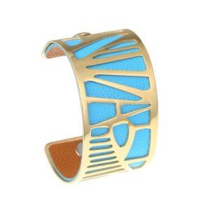 shine boutique, bracelet manchette palmier doré large, bracelet réversible et interchangeable, bracelet 3 en 1