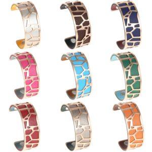 shine boutique, bracelet manchette girafe doré médium, manchette girafe dorée, bracelet réversible et interchangeable, bracelet personnalisable, bracelet 3 en 1