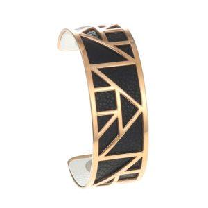 shine boutique, bracelet manchette pyramide doré médium, manchette pyramide dorée, georgette, bracelet réversible et interchangeable, bracelet personnalisable, bracelet 3 en 1