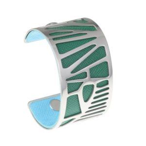 shine boutique, bracelet manchette palmier large, bracelet réversible et interchangeable, bracelet 3 en 1