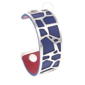 , bracelet manchette girafe médium, bracelet personnalisable, bracelet unique, bracelet réversible et interchangeable, bracelet 3 en 1