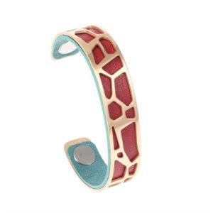 shine boutique, bracelet manchette girafe doré small, manchette girafe dorée, bracelet réversible et interchangeable, bracelet personnalisable, bracelet 3 en 1