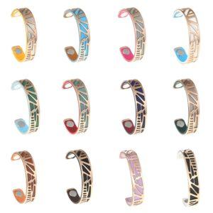 shine boutique, bracelet manchette palmier doré small, bracelet réversible et interchangeable, bracelet 3 en 1