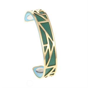 shine boutique, bracelet manchette pyramide doré small, georgette, bracelet réversible et interchangeable, bracelet personnalisable, bracelet 3 en 1