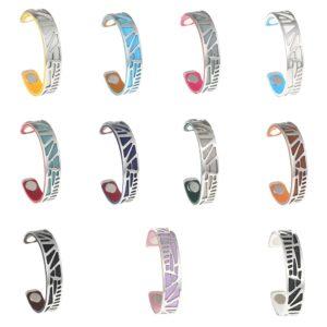 shineboutique, bracelet manchette palmier small, bracelet réversible et interchangeable, bracelet 3 en 1