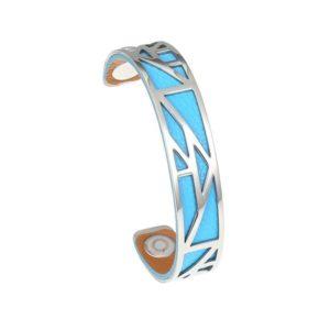 shine boutique, bracelet manchette pyramide small, georgette, bracelet cuir réversible et interchangeables, bracelet 3 en 1, nmanchette acier inoxydable