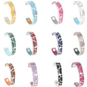 Shine boutique, bracelet manchette girafe small, bracelet personnalisable, bracelet unique, bracelet réversible et interchangeable, bracelet 3 en 1