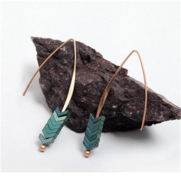 shineboutique, boucles d'oreilles aramis, boucle d'oreille flèche, boucles d'oreilles ethniques bohèmes