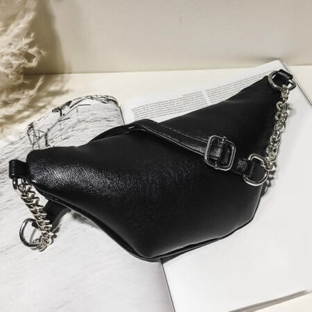 sac banane cuir femme noir ashley