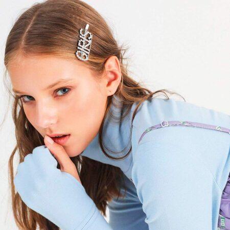 shine boutique, barrette strass girls, barrette lettrage strassé, barrettes slogan strass, barrette mot strass barrette cheveux, accessoire cheveux, pince strass