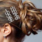 shine boutique, barrette strass kiss, barrette strass sweet, barrette lettrage strassé, barrettes slogan strass, barrette mot strass barrette cheveux, accessoire cheveux, pince strass