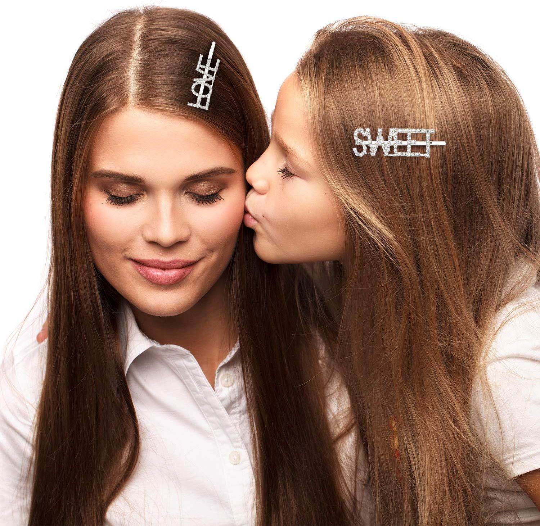 shine boutique, barrette strass love, barrette strass sweet, barrette lettrage strassé, barrettes slogan strass, barrette mot strass barrette cheveux, accessoire cheveux, pince strass