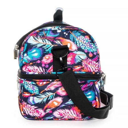 sac repas isotherme plumes multicolores hyndi