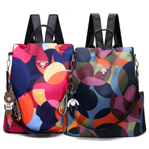 shine boutique, sac à dos multicolore, sac à dos antivol, sac à dos de voyage