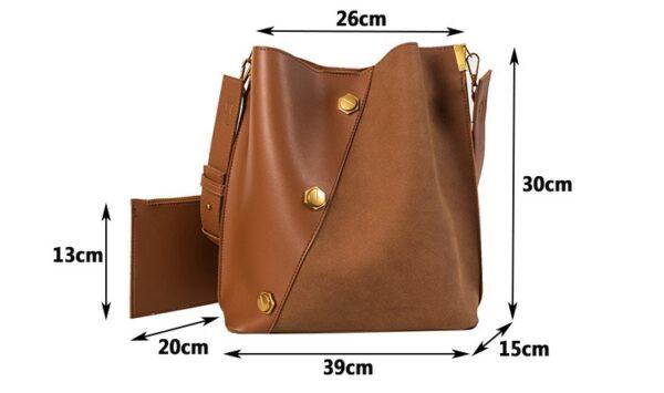 shineboutique, sac bandoulière zana , sac à main, sac porté épaule, sac simili cuir, sac cuir synthétique, sac daim, sac besace, sac seau
