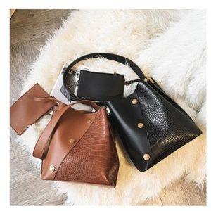 shine boutique, sac bandoulière zana croco, sac à main, sac porté épaule, sac simili cuir, sac cuir synthétique, sac imitation crocodile, sac besace, sac seau