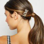shine boutique, barrette strass love, barrette lettrage strassé, barrettes slogan strass, barrette mot strass barrette cheveux, accessoire cheveux, pince strass