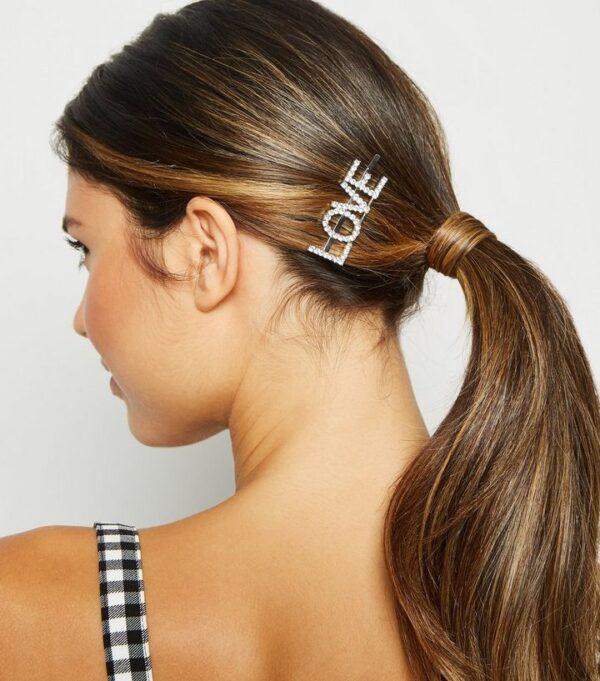 shineboutique, barrette strass love, barrette lettrage strassé, barrettes slogan strass, barrette mot strass barrette cheveux, accessoire cheveux, pince strass