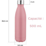 bouteille isotherme inox rose mat 2