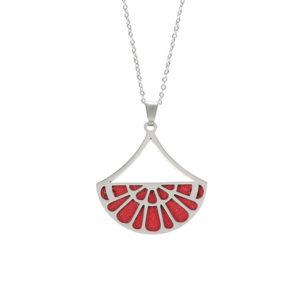 shine boutique, collier réversible georgina argent, les georgettes, collier cuir réversible et interchangeable.
