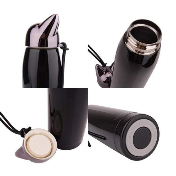 shineboutique, bouteille isotherme chat, thermos