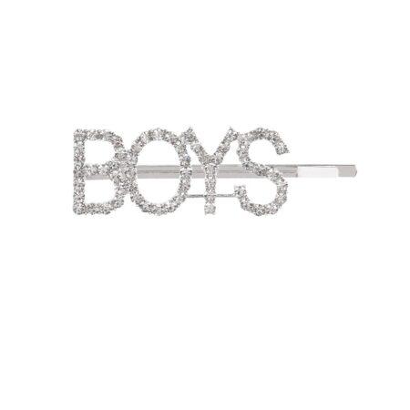 shine boutique, barrette strass boys, barrette lettrage strassé, barrettes slogan strass, barrette mot strass barrette cheveux, accessoire cheveux, pince strass