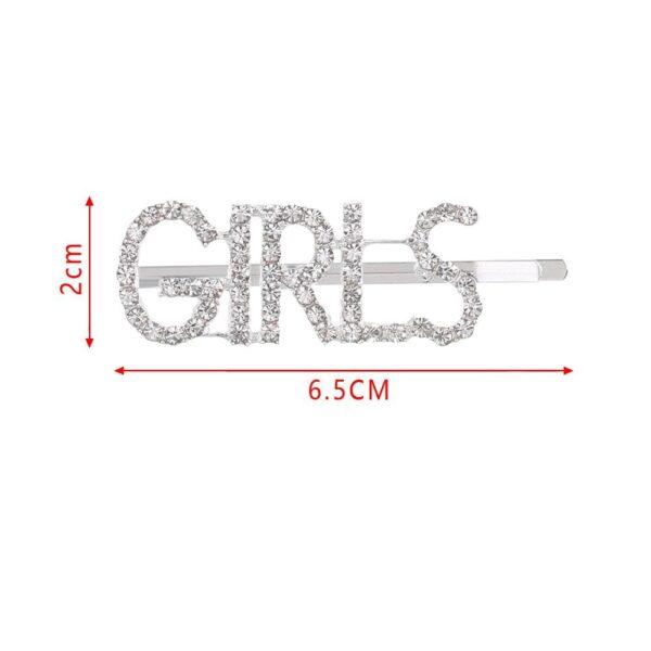 shineboutique, barrette strass girls, barrette lettrage strassé, barrettes slogan strass, barrette mot strass barrette cheveux, accessoire cheveux, pince strass