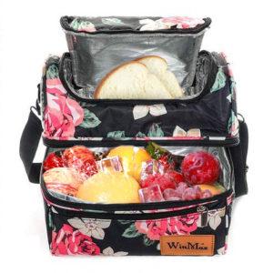 sac repas fleurs