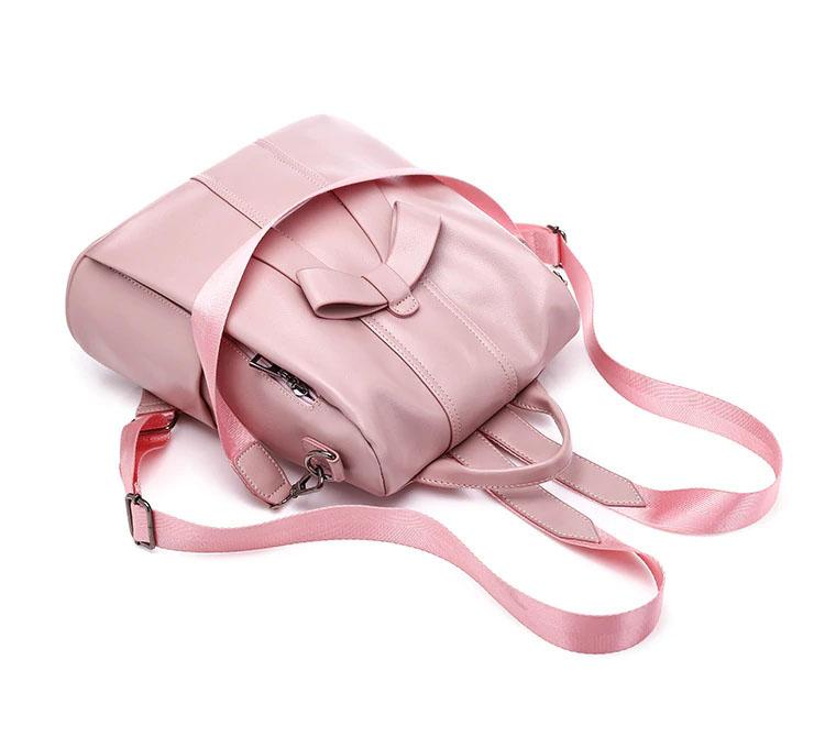 shine boutique, sac à fermeture cachée telma, sac antivol rose en cuir