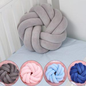 shineboutique, coussin nœud rond, coussin décoration, oreiller velours, coussin pelote, coussin tube