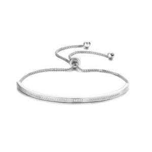shine boutique, bracelet cassandra, bracelet acier inoxydable, bracelet oxyde de zirconium, bracelet chaîne vénitienne, bracelet chic et élégant. bracelet or, argent, or rose.