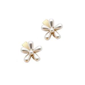 Barrette perle fleur pour cheveux