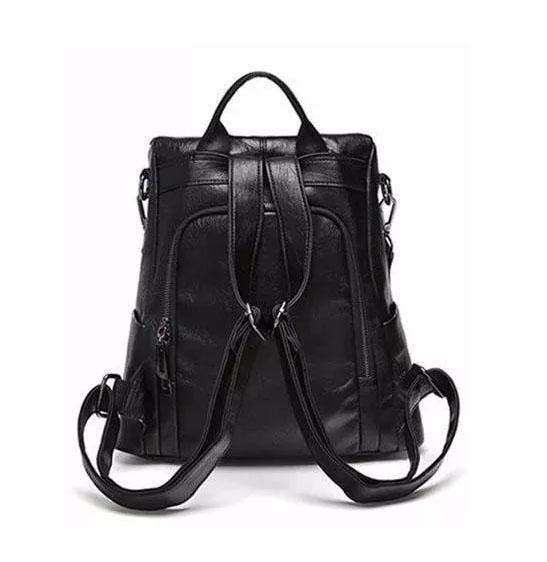 sac cuir antivol noir à fermeture cachée