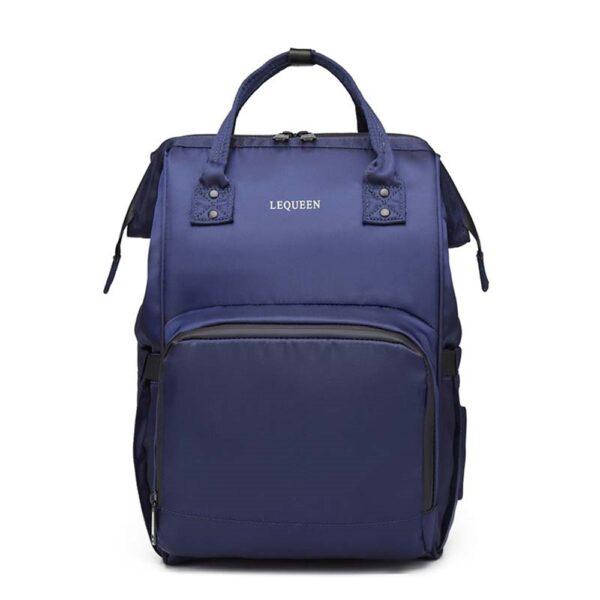 sac à dos à langer lequeen, shine boutique, sac de maternité, sac à couche.