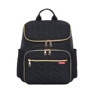 sac à dos à langer noir Paris, sac de maternité, shine boutique, shine