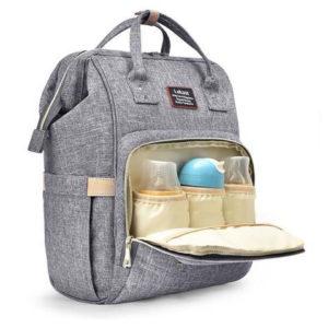 sac à dos à langer pour futures mamans de couleur grise