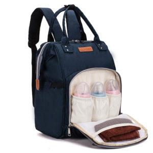 sac à dos à langer de couleur bleue pour femmes - shine boutique