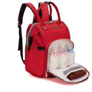 sac à langer, sac à dos, premium de couleur rouge , shine boutique