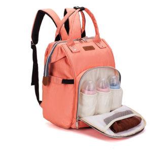 sac à dos à langer premium saumon, multifonction , shine boutique