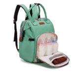sac à dos à langer shineboutique en tissus oxford vert