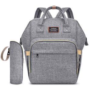 sac à dos à langer Milano, sac à langer gris clair, sac de maternité, sac à couches, sac multifonctions, shine boutique, shine