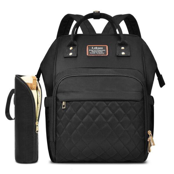 sac à dos à langer monaco, sac à langer noir, sac de maternité, sac à couche, shine boutique, shine