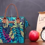 shine boutique, sac isotherme repas feuille, lunch bag amazonia, sac à lunch