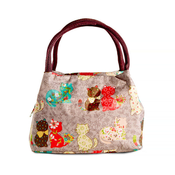 Shine boutique, lunch bag chat, sac repas isotherme chat, sac glacière, sac isotherme, lunch bag isotherme, sac à déjeuner