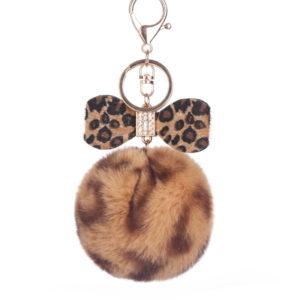 shine boutique, porte-clés pompon noeud, porte-clé pompon fourrure, porte-clés boule de poil